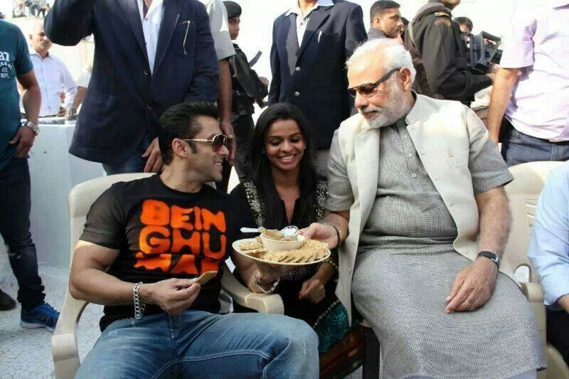 Salman Khan and Narendra Modi